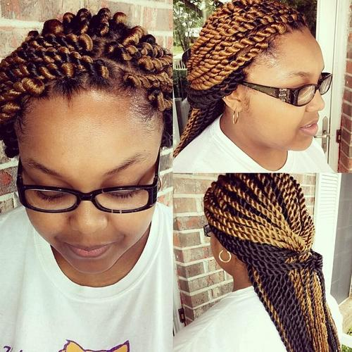 black and caramel twists
