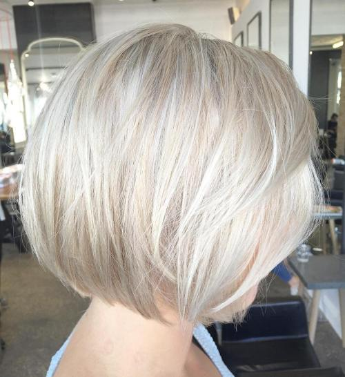 Ash Blonde Bob With Platinum Highlights