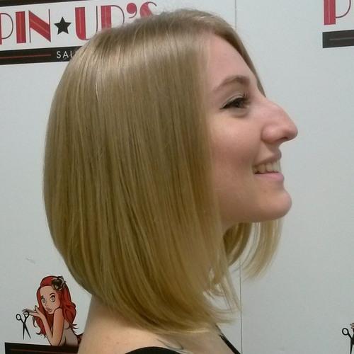 A-line bob for thin hair