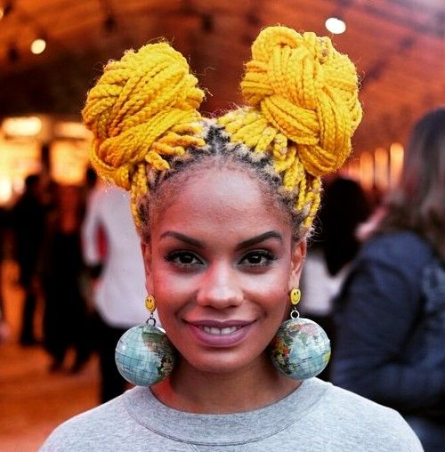 yellow hair style top 20 all the rage looks with box braids 3634