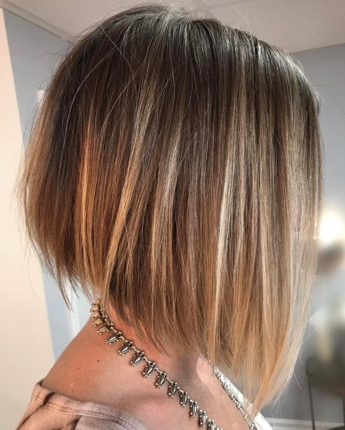 Angled Bob For Straight Fine Hair