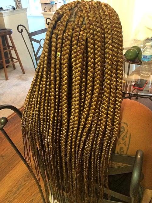 long big blonde box braids