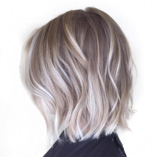 Ash Blonde Bob With Platinum Balayage