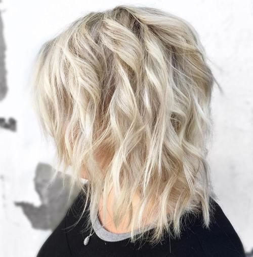 Shaggy Wavy Medium Hairstyle