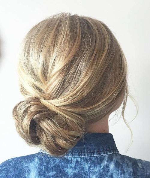 60 updos for thin hair that score maximum style point casual side bun updo pmusecretfo Image collections