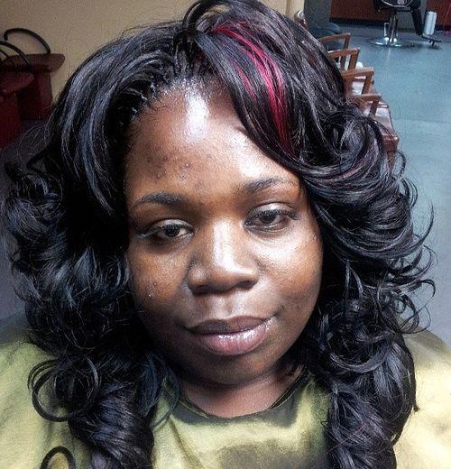 curly layered tree braids hairstyle