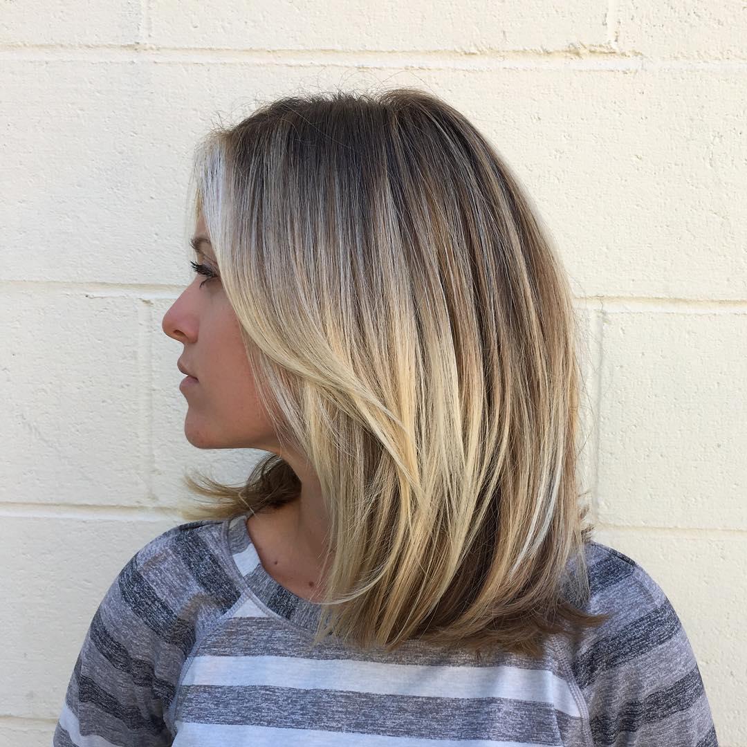 Medium Length Layered Haircuts With Bangs For Thin Hair