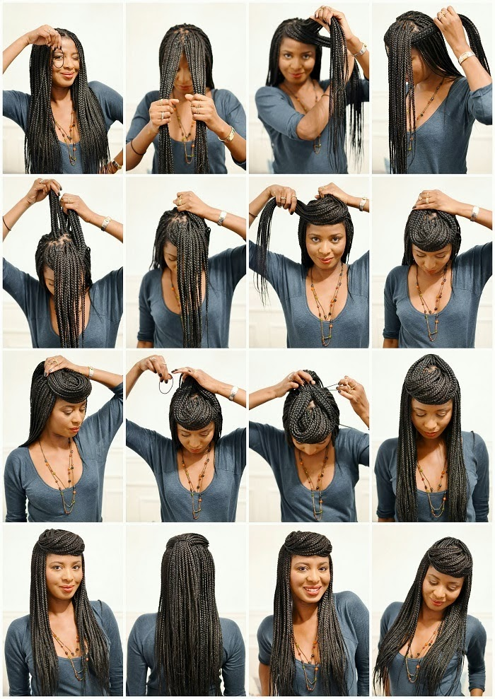 Astonishing 10 Instructions Directing You On How To Style Box Braids Short Hairstyles For Black Women Fulllsitofus