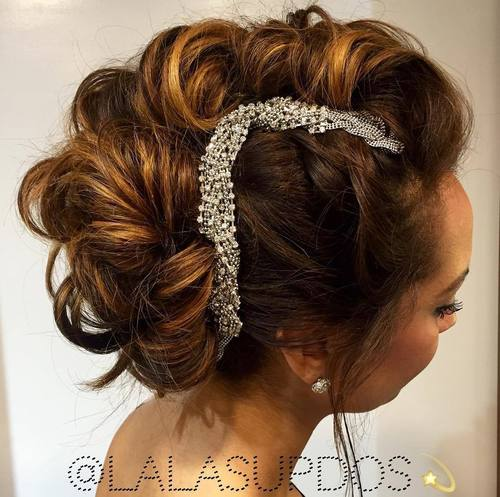 formal curly mohawk updo