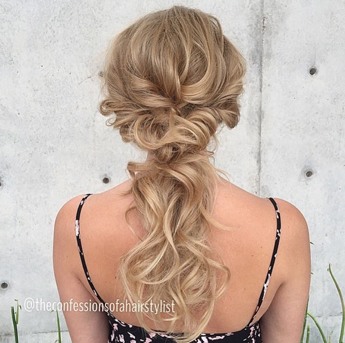 40 picture perfect hairstyles for long thin hair cute curly updo ponytail pmusecretfo Image collections