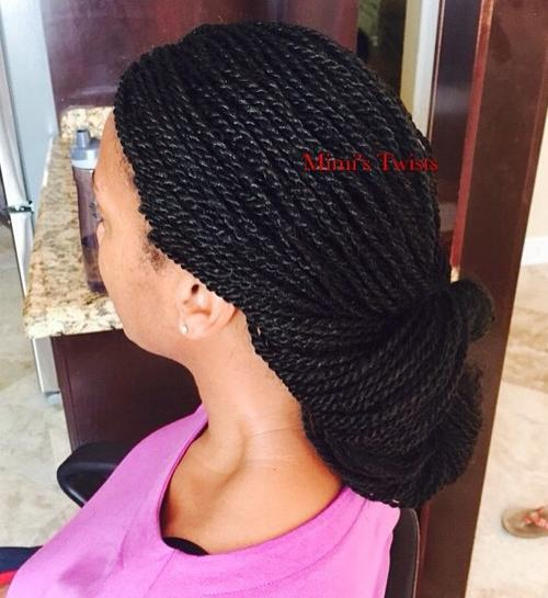 low updo twists hairstyle