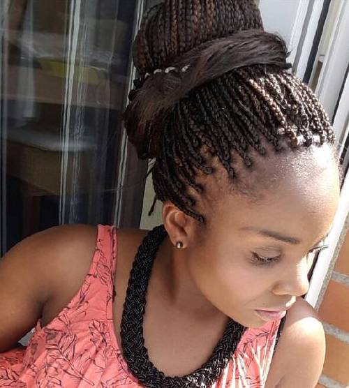 Stupendous The 10 Most Beautiful Small Box Braid Hairdos Hairstyle Inspiration Daily Dogsangcom