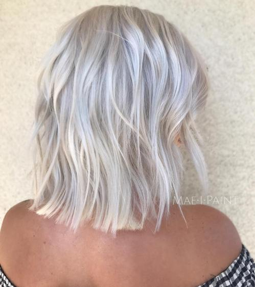 Choppy Bright Silver Bob
