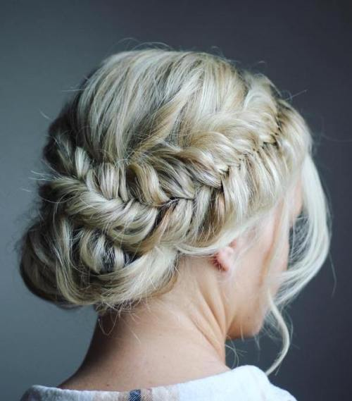 Fishtail Crown Braid With A Bun