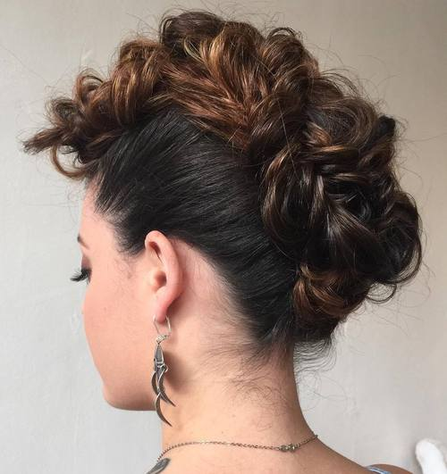 beautiful mohawk updo