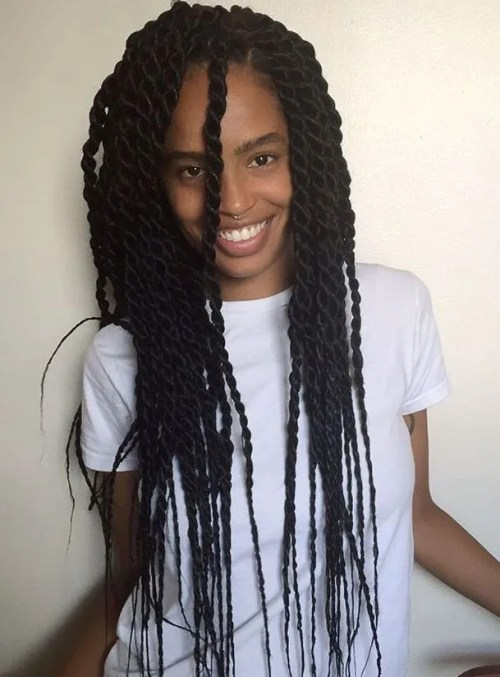 senegalese twists long hair styles 50 thrilling twist braid styles to try this season 1706 | 7 long senegalese twists with thin ends