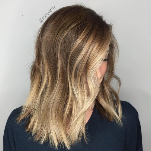 Medium Choppy Hairstyle With Contour Highlights