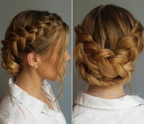 cute braided updo for long hair