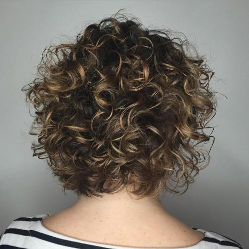 Medium Curly Bob With Subtle Highlights