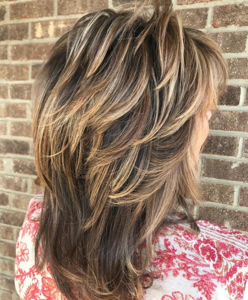 Medium Feathered Cut With Bronde Balayage
