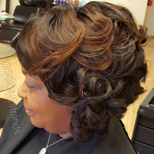 African American Curly Bob