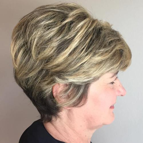 Feathered Pixie Hairstyle For Women Over 50