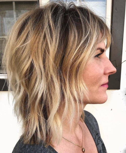 Medium Beachy Shag With Razored Layers