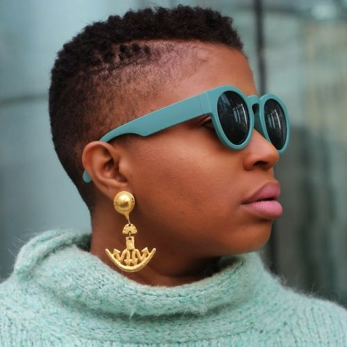 very short women's mohawk for natural hair