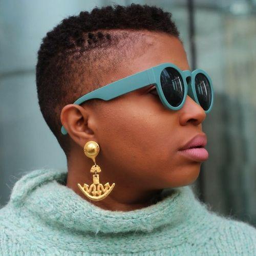 very short women's mohawk for natural hair