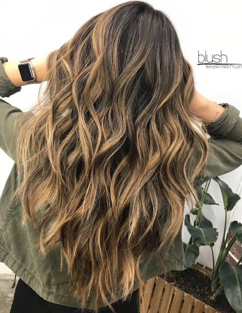 Long Wavy Haircut For Thick Hair
