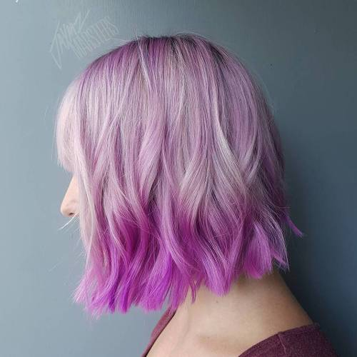 Pastel Purple Reverse Ombre For Bob