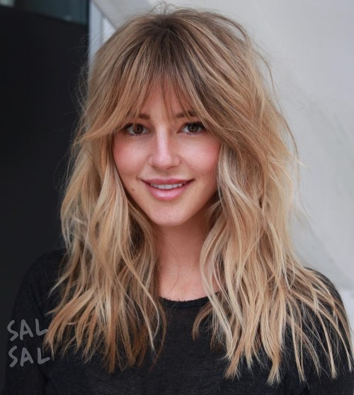 Caramel Blonde Cut With Shaggy Layers