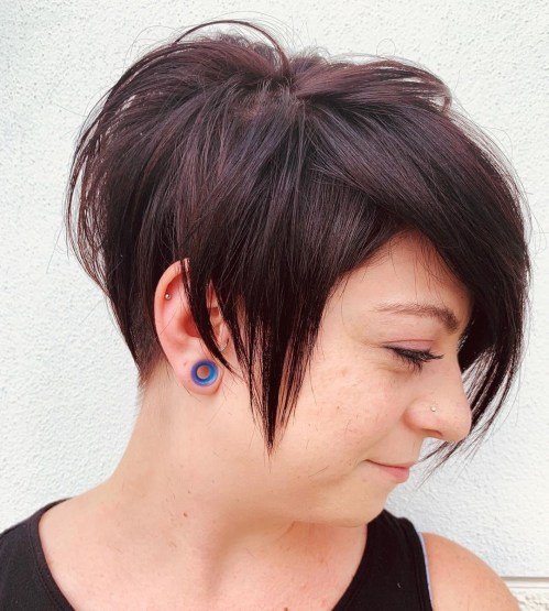 Edgy Pixie Cut For Round Faces