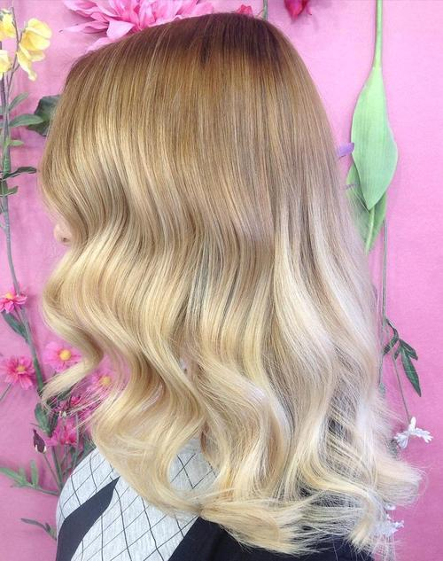 light brown to blonde ombre