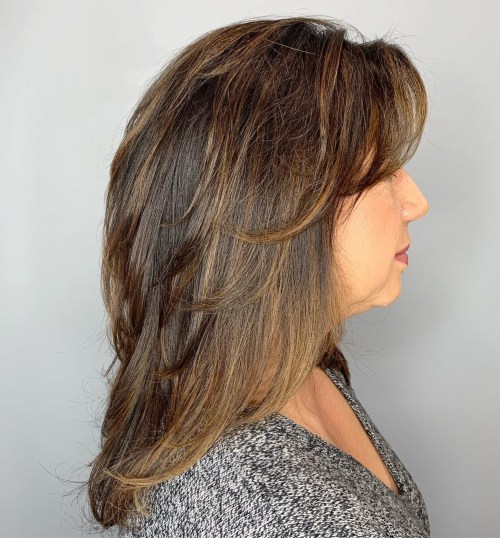 Medium Feathered Cut For Fine Hair