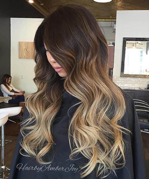 ombre styles for dark hair ombre hair to charge your look with radiance 2555 | 14 brown blonde ombre for dark brown hair