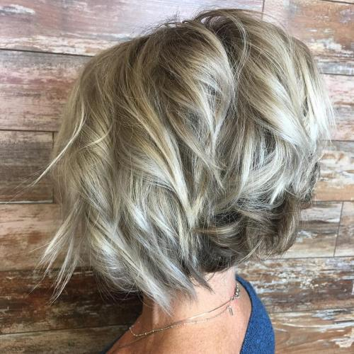 Choppy Messy Bob For Fine Hair