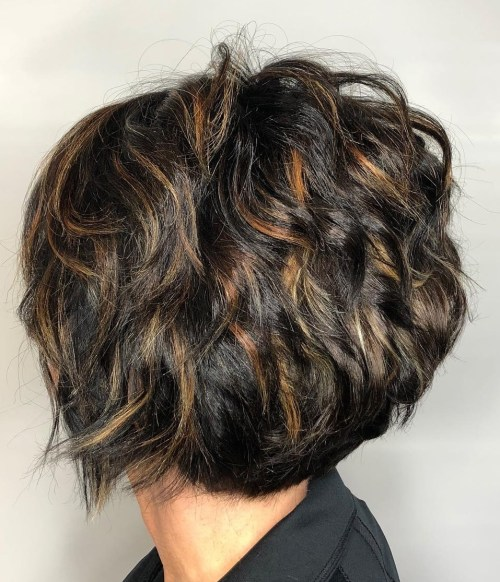 short layered styles for thick hair 60 haircuts and hairstyles for thick hair 6825 | 14 short cut with messy layers