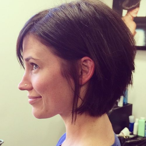 hairstyles thick hair Short