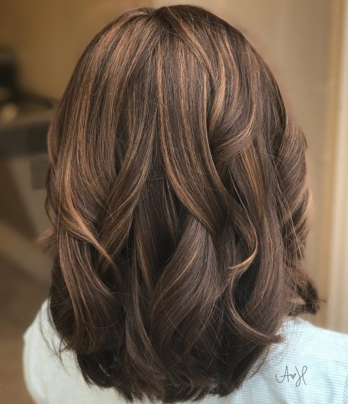 Medium length hairstyles 2014 for thick hair
