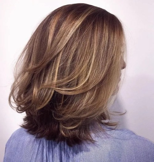 Medium Layered Cut With Subtle Highlights