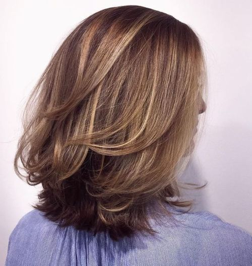 60 most beneficial haircuts for thick hair of any length medium layered cut with subtle highlights solutioingenieria Image collections