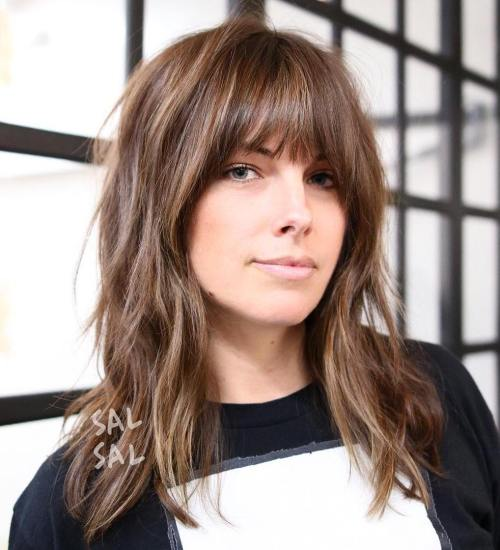40 most universal modern shag haircut solutions messy medium hairstyle with bangs urmus Image collections