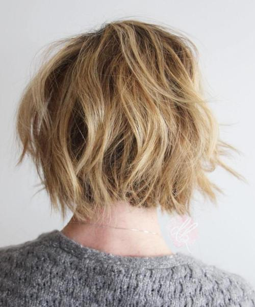 Shaggy Blonde Bob Haircut
