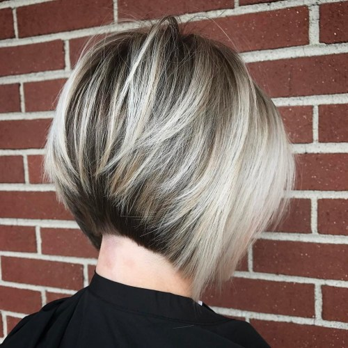 Inverted Brown And Blonde Bob