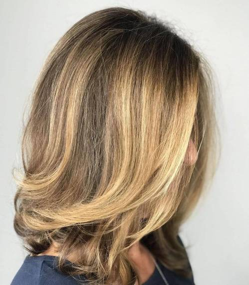 Medium Tousled Hairstyle For Thick Hair