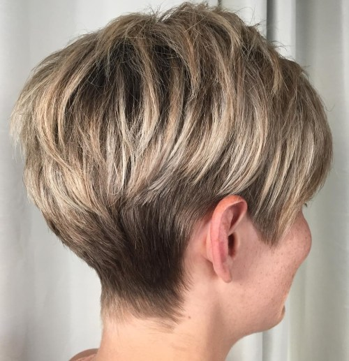 Ash Bronde Tapered Pixie