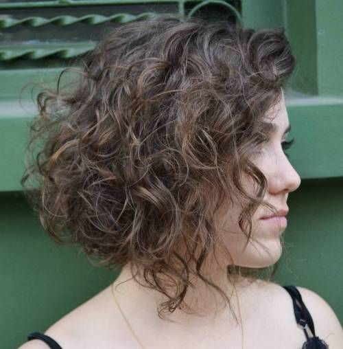 Inverted Curly Bob Hairstyle