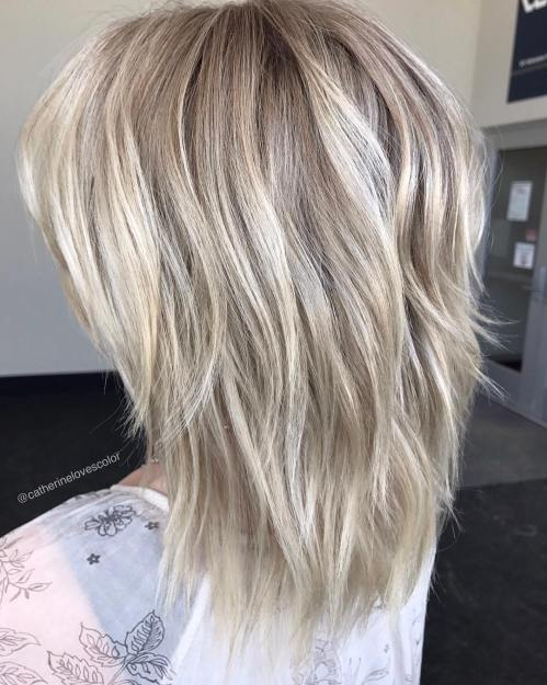 Layered Shag For Thick Straight Hair