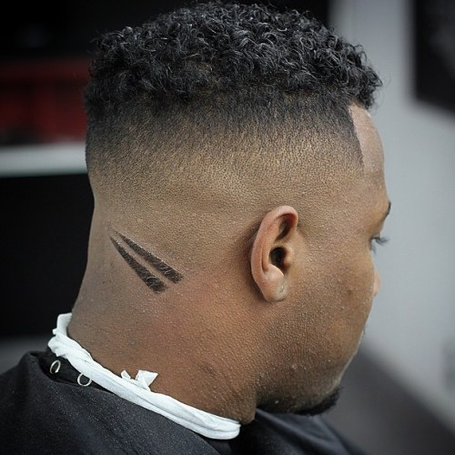 High Curly Top Fade